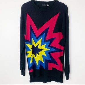 NWT Urban Outfitters BDG Rainbow Explosion Sweater